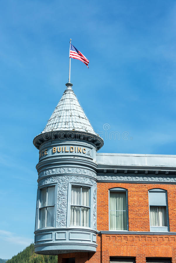 Historic Building and Flag stock images