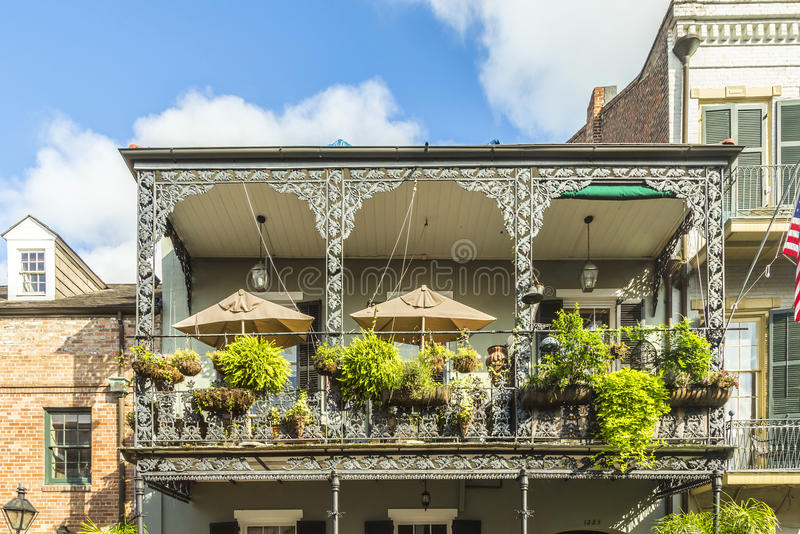 Historic building in the French Quarter. In New Orleans, USA royalty free stock image