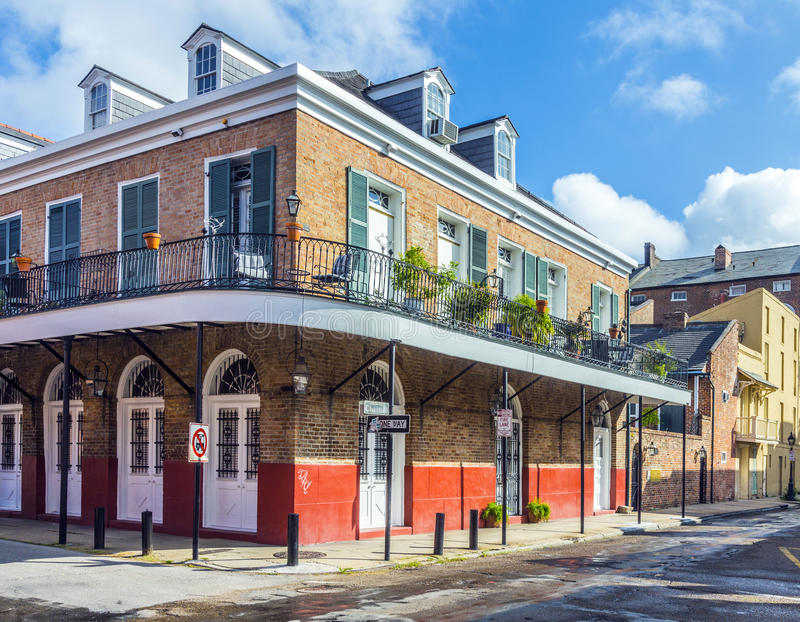 Historic building in the French Quarter. In New Orleans, USA royalty free stock images
