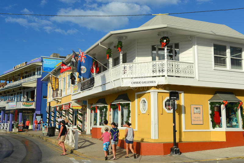 Historic building in George Town, Cayman Islands. Historic shop The Penny Black in downtown George Town, Grand Cayman, Cayman Islands stock image