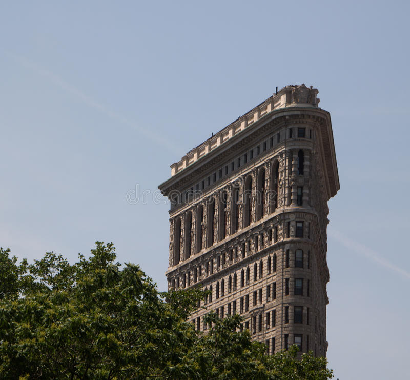 Flat Iron in New York City. Upper floors royalty free stock images