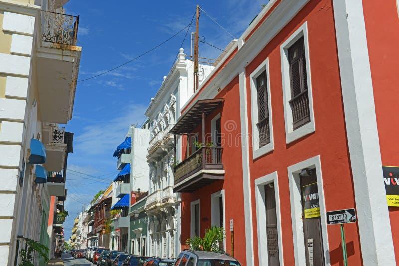 Historic building in Old San Juan, Puerto Rico royalty free stock photo