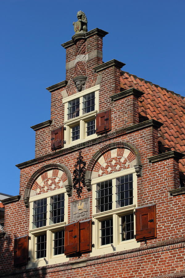 Historic Building In Oudewater, Netherlands Stock Image