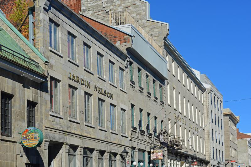 Place Jacques-Cartier, Montreal, Canada. Historic Building on Place Jacques-Cartier in old town Montreal, Quebec, Canada stock image