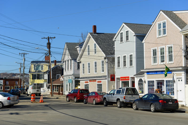 Historic Building in Rockport, Massachusetts royalty free stock photo