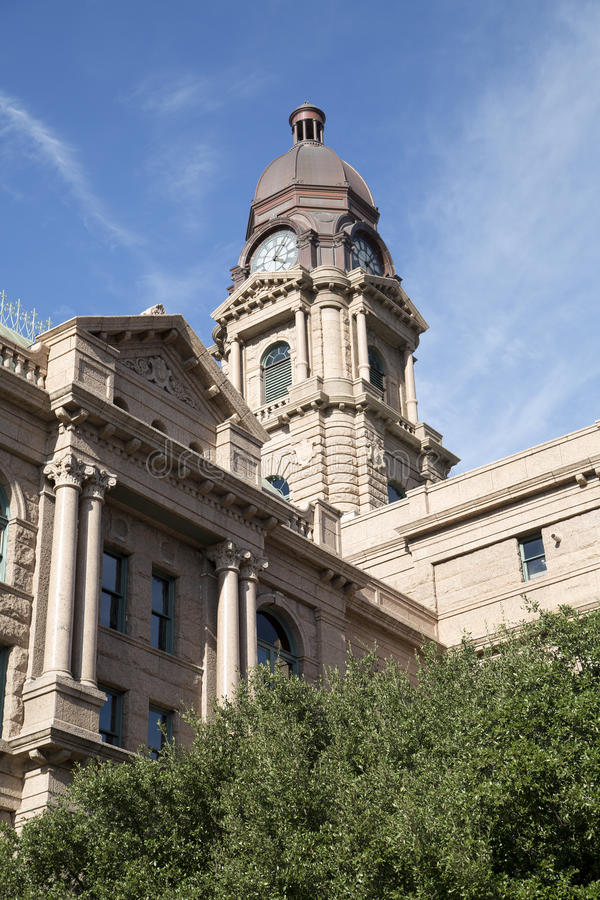 Historic building Tarrant County Courthouse TX. Historic building Tarrant County courthouse in city Fort Worth, TX USA royalty free stock photo