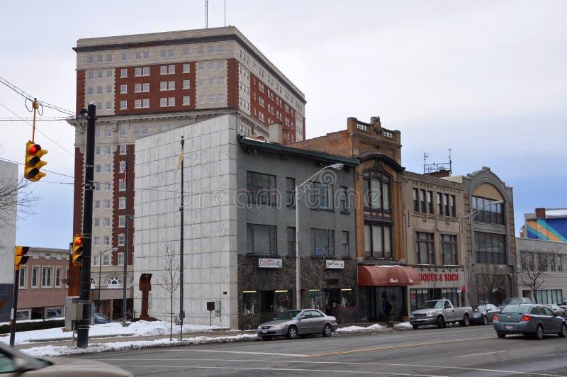 Historic Building in Utica, New York State, USA stock image