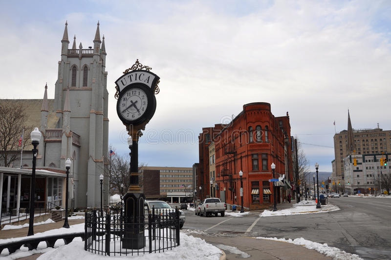 Historic Building in Utica, New York State, USA stock photography