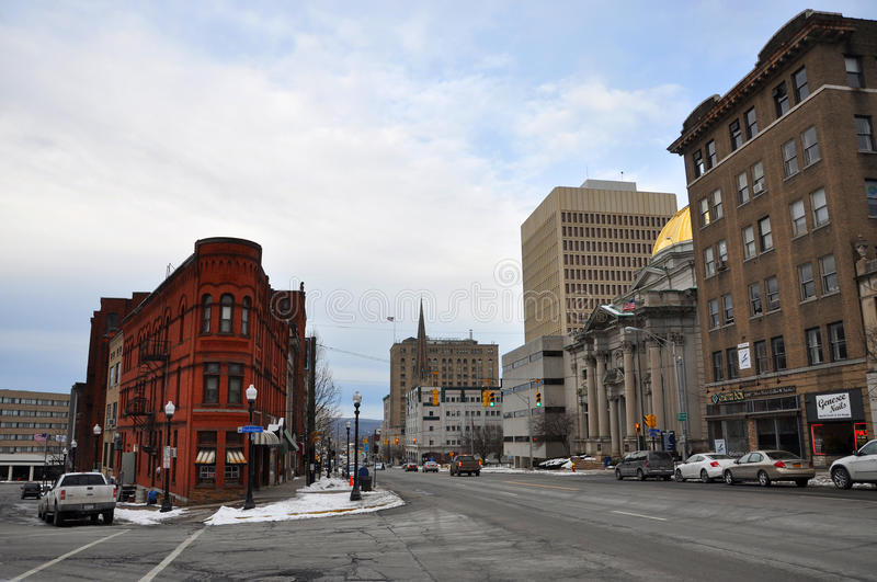 Historic Building in Utica, New York State, USA royalty free stock photography