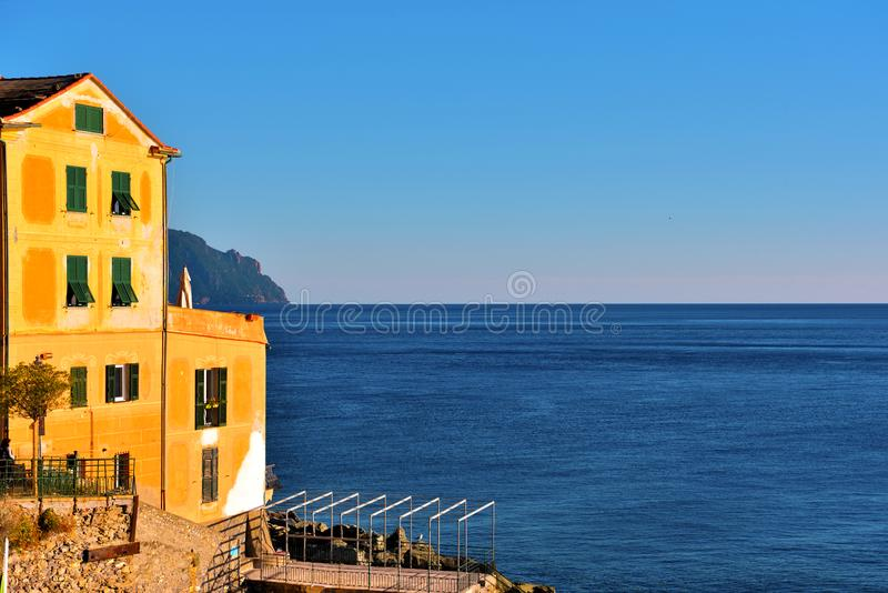Bogliasco genoa italy. Historic buildings in Bogliasco Genoa Italy stock images