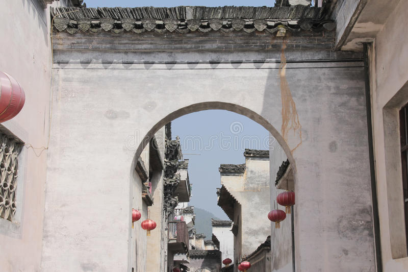 Historic buildings in China. Historic buildings in Anhui province, China stock photography