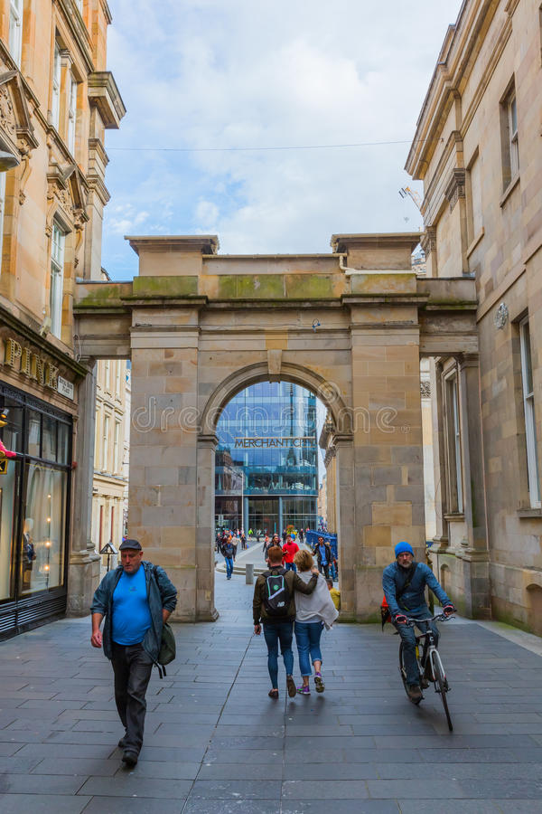 Historic buildings in the city center of Glasgow stock image