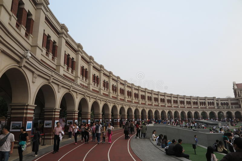 The historic buildings of Five Great Avenues in Tianjin. Five Great Avenues Wudadao, literally `The Five Avenues` is a tourist and up-scale residential area in stock photos
