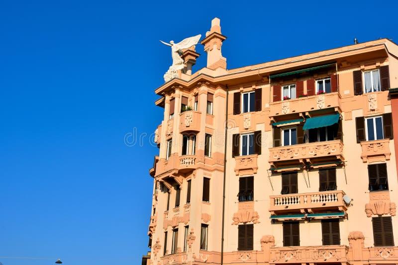 Genoa liguria italy. Historic buildings in Genoa Italy stock image