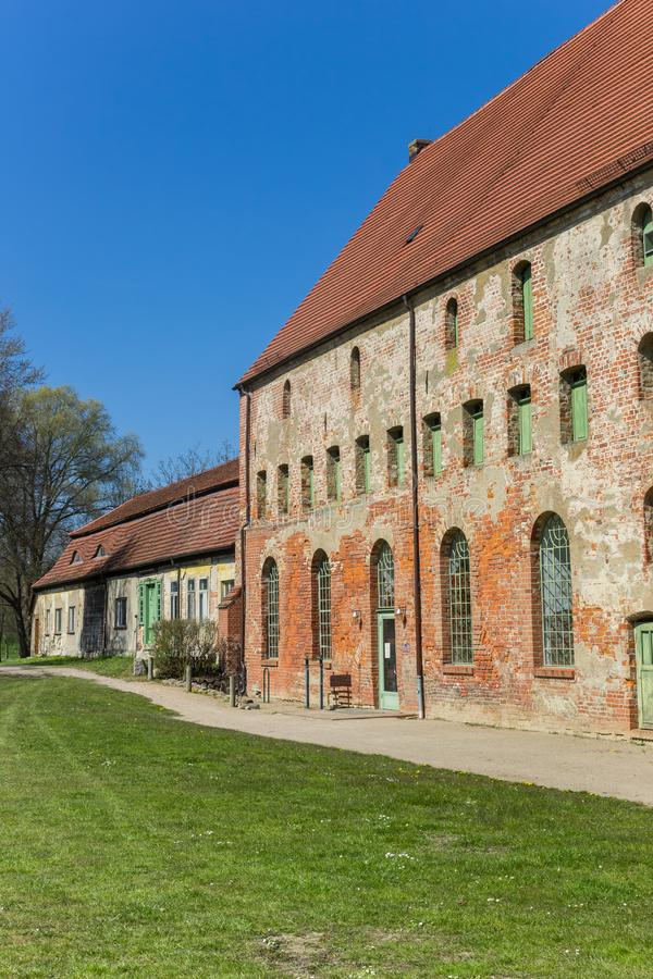 Historic buildings of the monastery in Dargun. Germany stock photos