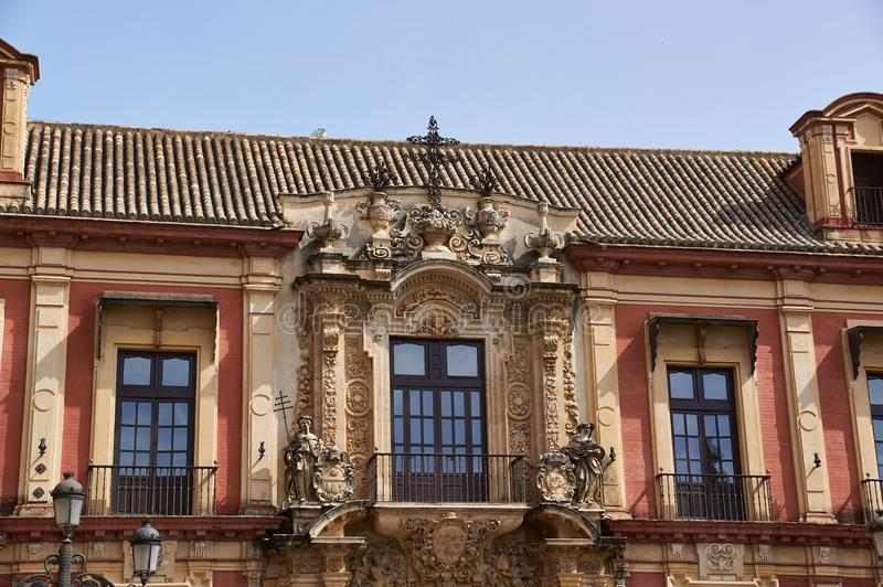 Historic buildings and monuments of Seville, Spain. Palacio Arzobispal stock image