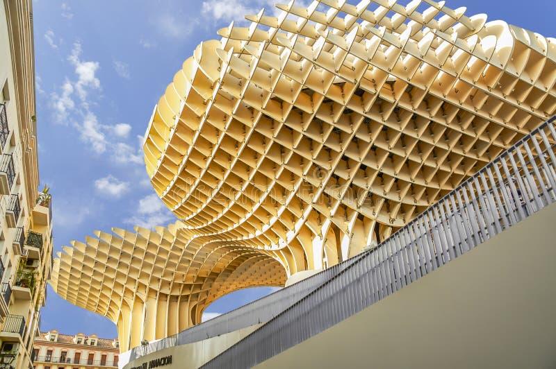 Historic buildings and monuments of Seville, Spain. Setas de Sevilla stock images