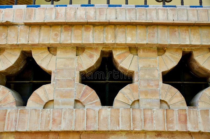 Historic buildings and monuments of Seville, Spain. Spanish architectural styles of Gothic and Mudejar, Baroque. Historic buildings and monuments of Seville stock photos