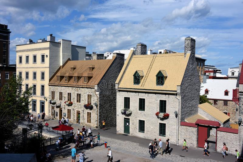 Historic buildings in old Quebec City, Canada royalty free stock photo