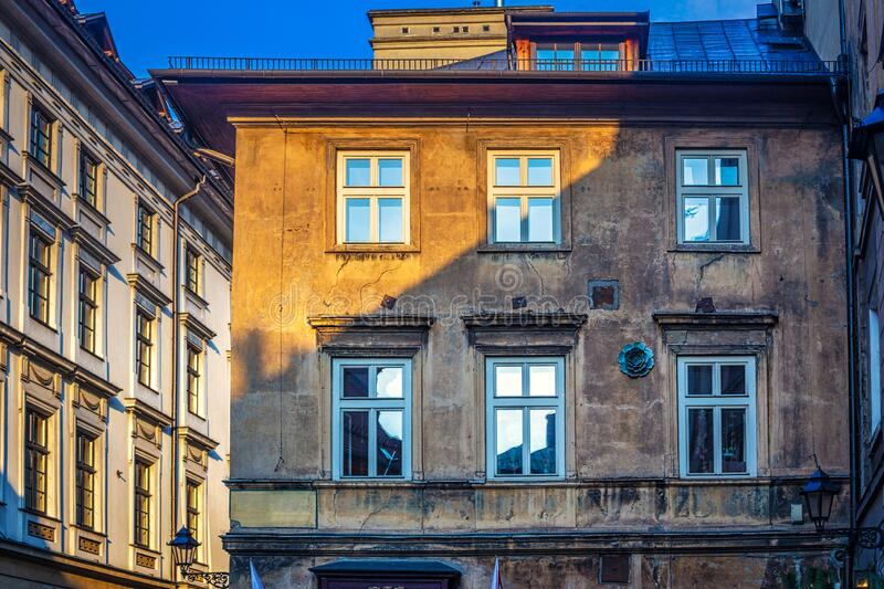 Historic buildings in the streets of Krakow royalty free stock photo