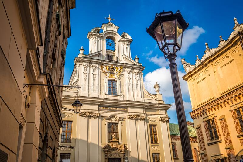 Historic buildings in the streets of Krakow. royalty free stock photos