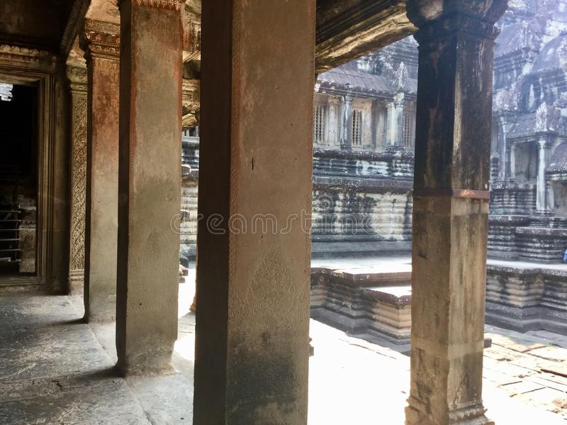 Historic built. Ancient architecture. Angkor Wat . Hindu Temple . Siem Reap. Cambodia. Angkor Wat is a temple complex in Cambodia and the largest religious stock photography