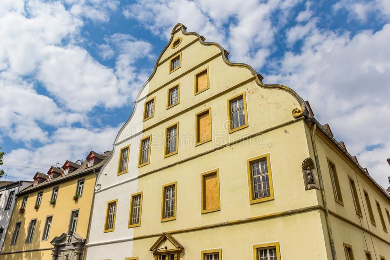 Historic Burresheimer Hof building in the center of Koblenz. Germany royalty free stock photos