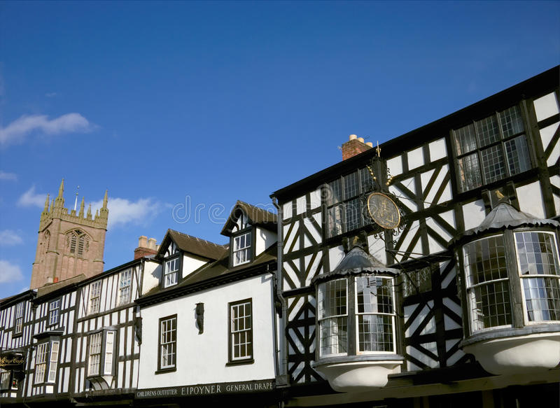 Historic Business Buildings, England royalty free stock image