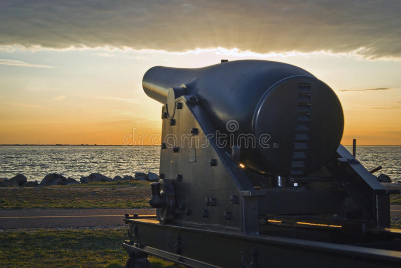 Download Historic Canon stock image. Image of weapon, hancock - 24339295