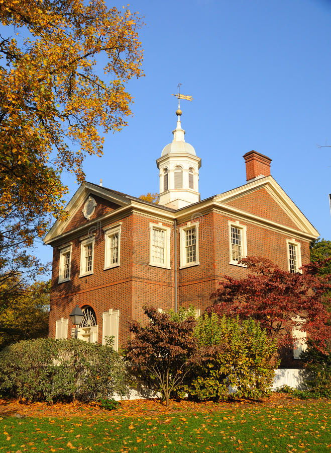 Download Historic Carpenters Hall stock photo. Image of brick - 17616030