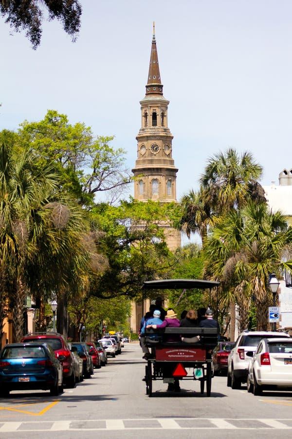 Historic Carriage Ride, Charleston, SC. stock photo
