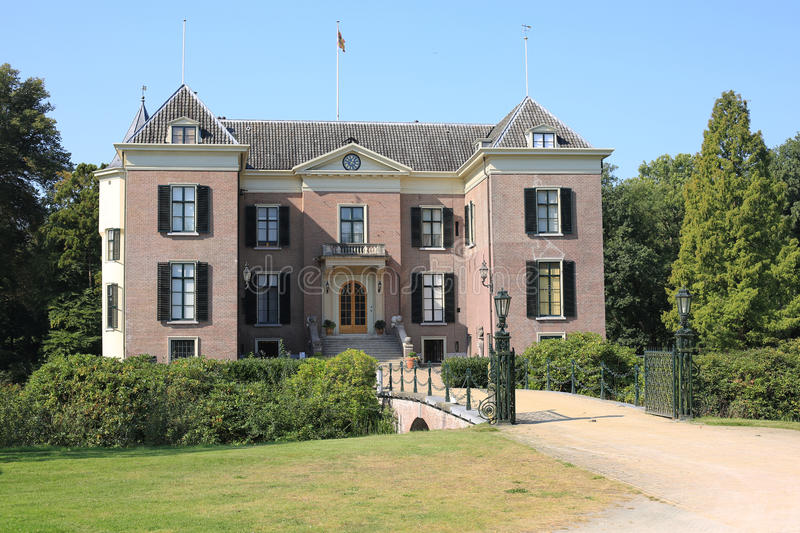 The historic Castle Doorn, The Netherlands. The historic Castle Doorn in the Province Utrecht, the exile of the Emperor Wilhelm II, The Netherlands stock photo
