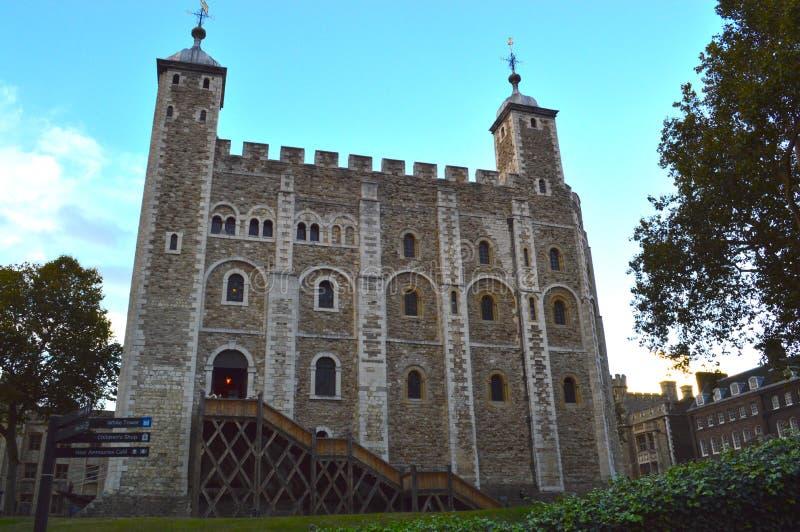Historic Castle in London, England. Amongst a blue sky royalty free stock photos