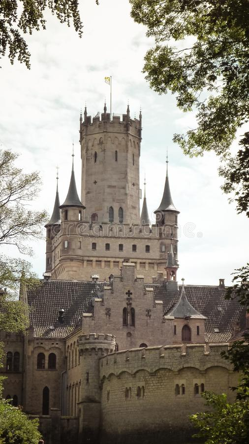 Historic Castle in Niedersachsen, Germany, Schloss Marienburg. Beautiful castle/ Schloss Marienburg close to Hildesheim, in Niedersachsen, Germany royalty free stock photos