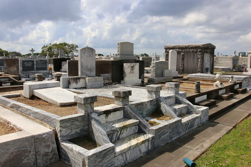 Historic cemetery in the Garden District of New Orleans. royalty free stock photo