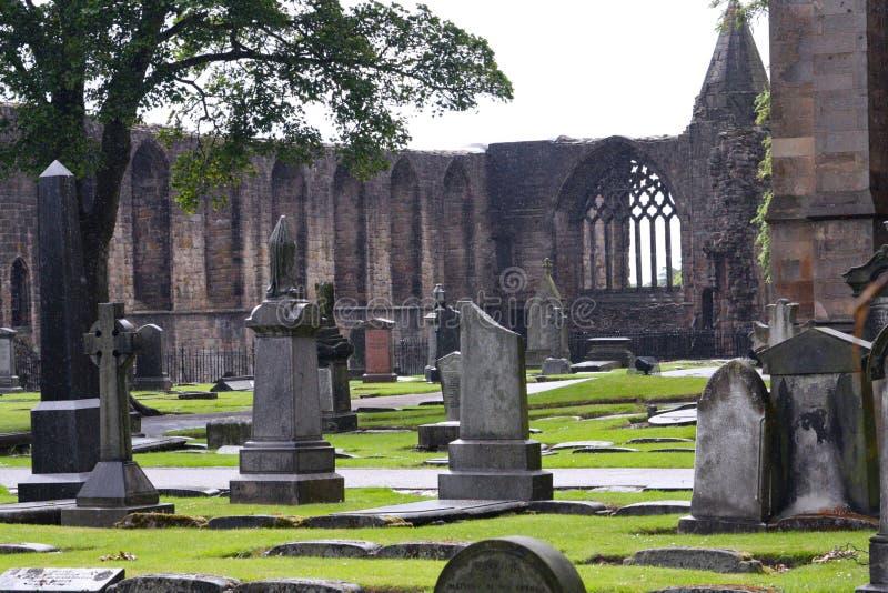 Historic Cemetery in Scotland stock photography