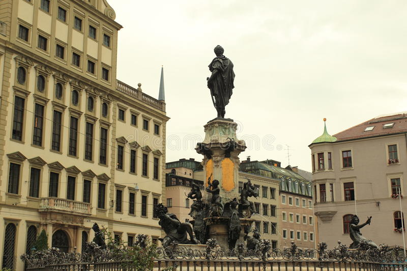 Historic center of Augsburg. The historic center in Augsburg, Germany stock photo
