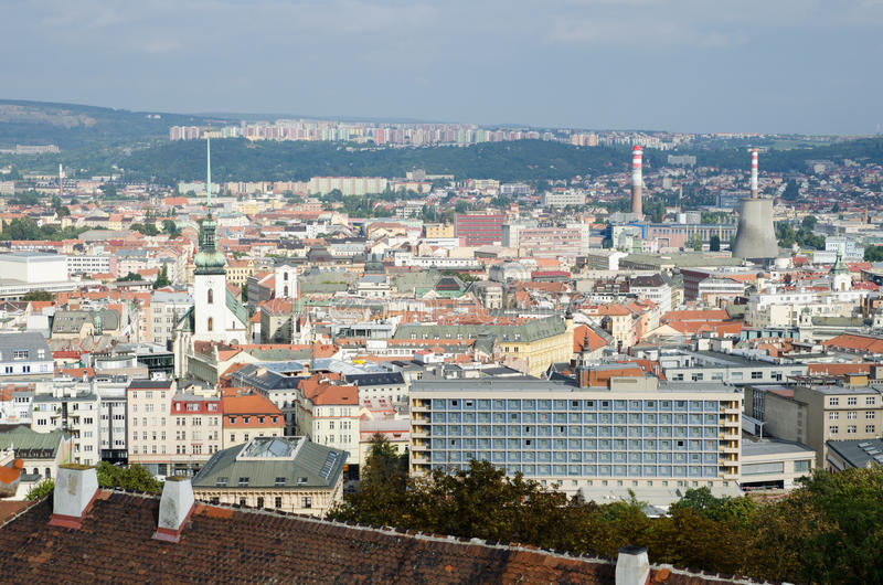 Historic center of Brno, Czech republic royalty free stock photos