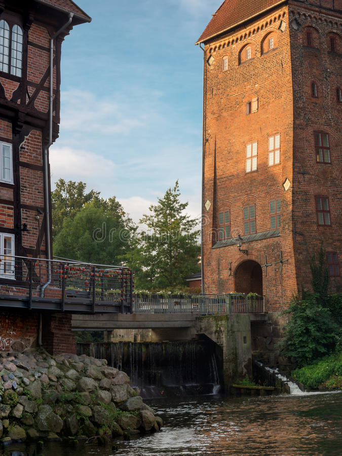 The historic center of Lueneburg in Germany stock images