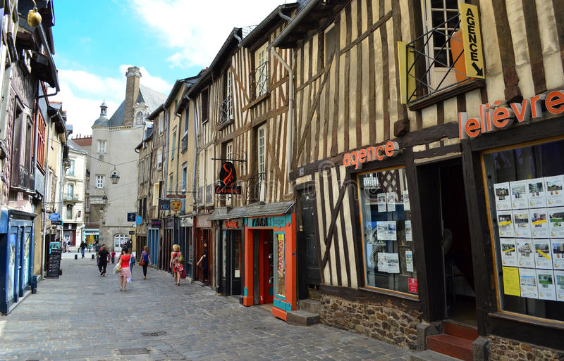 Historic Centre Of Rennes - France Editorial Photo