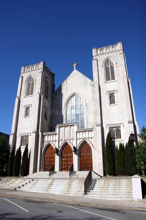 Historic Church. In downtown Macon, Georgia stock image