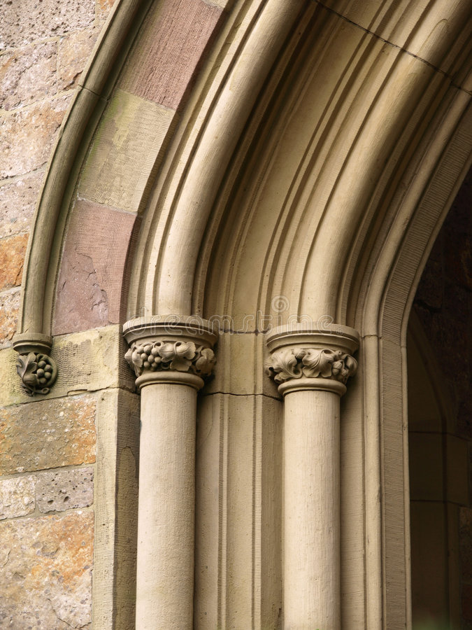 Free Historic Church Arch Detail Royalty Free Stock Image - 5954246