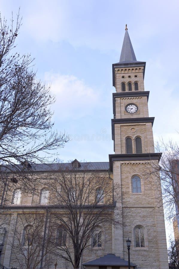 Historic Church and Clock Tower of Saint Paul royalty free stock photos