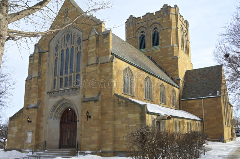 Historic Church of West Side Saint Paul royalty free stock images