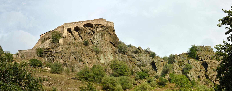 Citadelle de Corte, Corse, France royalty free stock photos