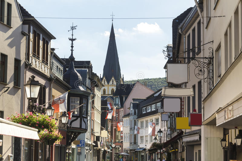 Historic city ahrweiler in germany. The historic city ahrweiler in germany stock images