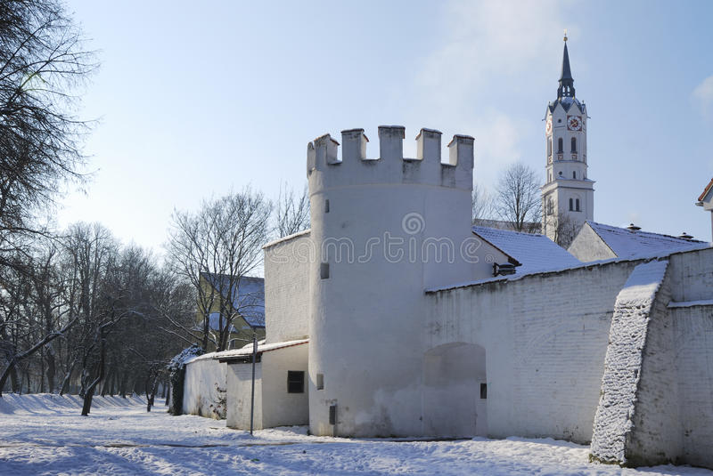 Historic City in Bavaria royalty free stock photography