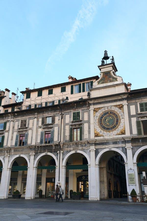 Historic city centre of Brescia stock image