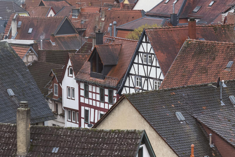 Historic city gelnhausen germany. The historic city gelnhausen germany stock photo