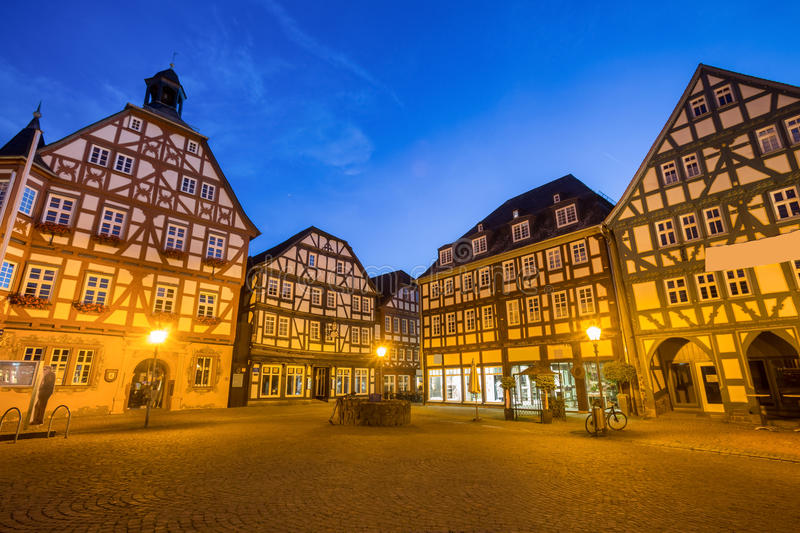 Historic City Gruenberg Hessen Germany In The Evening Editorial ...